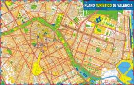 Large detailed tourist map of Valencia