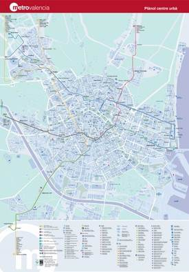 Tourist metro map of Valencia