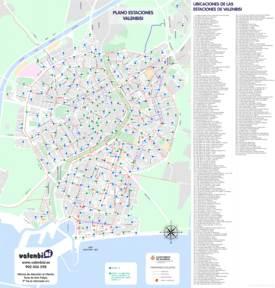 Mapa de Valenbisi