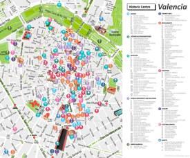 Mapa del Centro Histórico de Valencia