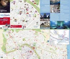 Valencia hotels and sightseeings map