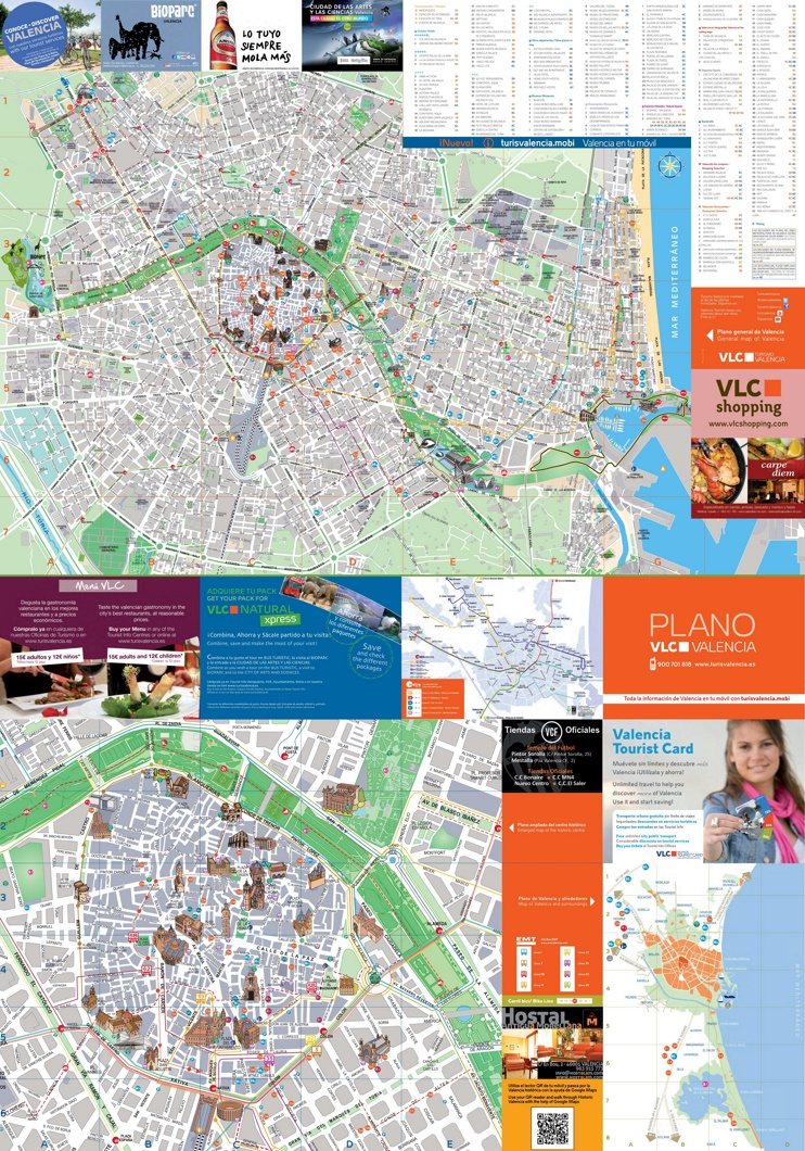 Valencia - mapa de turismo