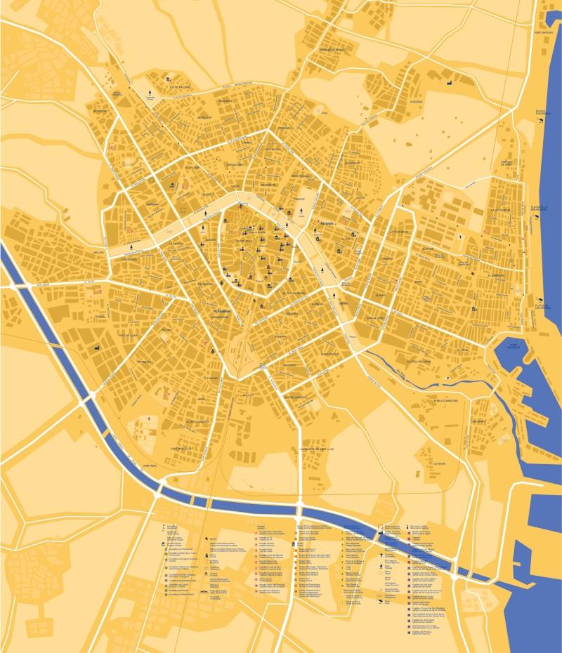 Valencia atracciones turísticas mapa