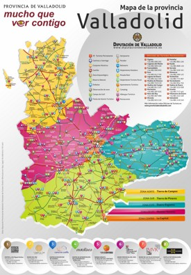 Province of Valladolid tourist map