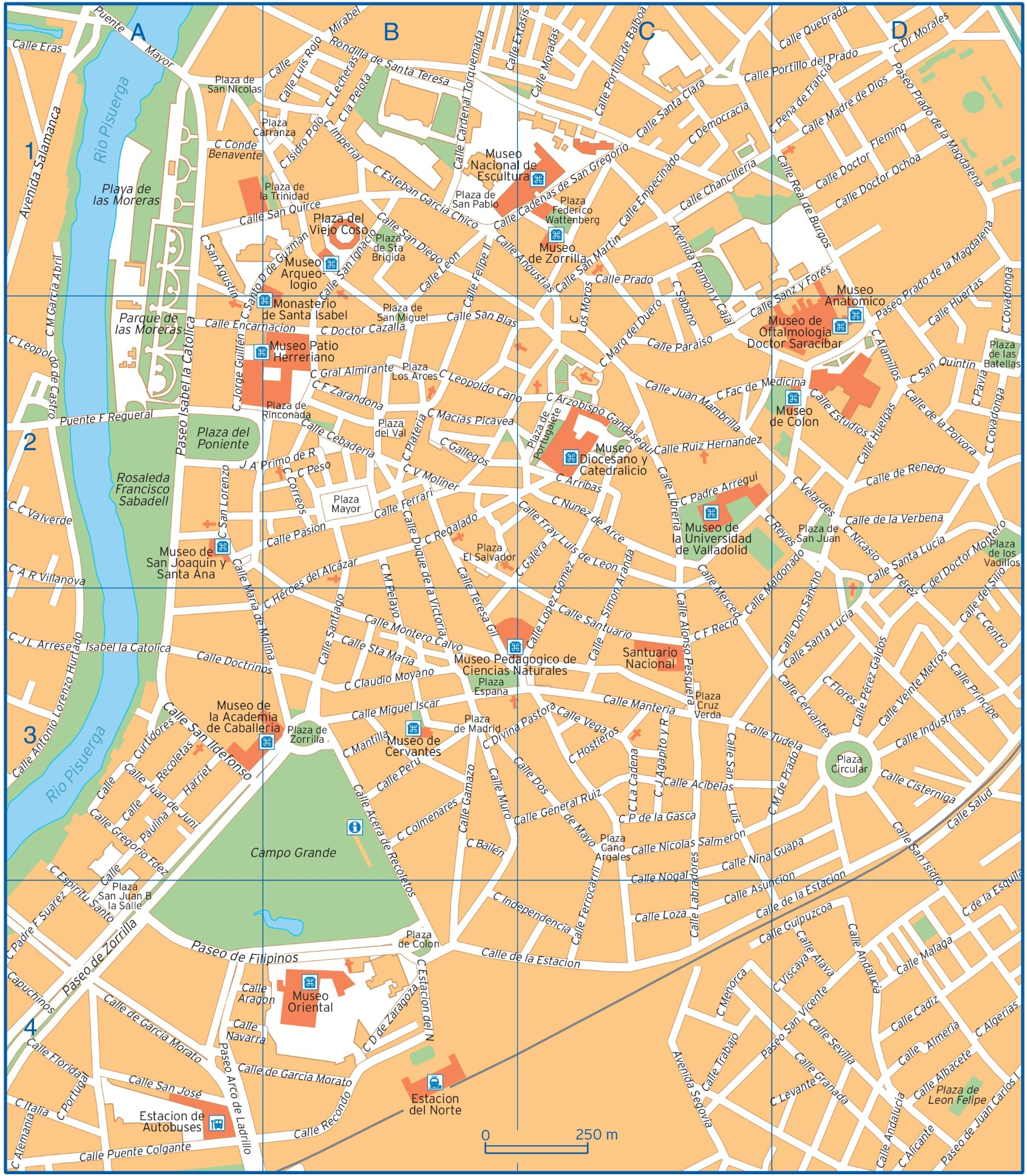 Map Of Spain Valladolid.Valladolid Maps Spain Maps Of Valladolid