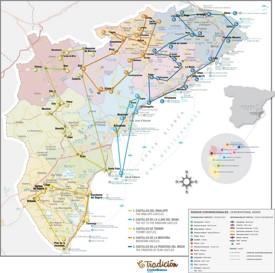 Costa Blanca castles map
