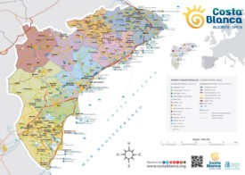 Costa Blanca tourist map