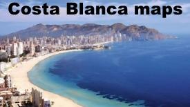 Costa Blanca Mapas