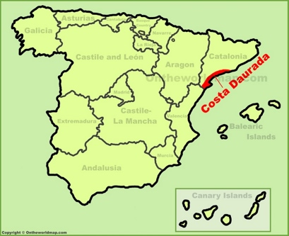 Costa Daurada Location Map