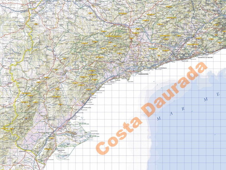 Large detailed map of Costa Daurada
