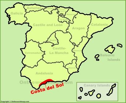 Costa del Sol Location Map