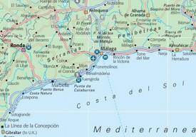 Costa del Sol tourist map