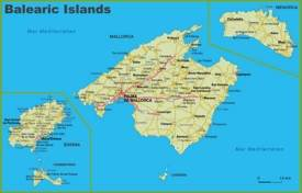 Islas Baleares carreteras mapa