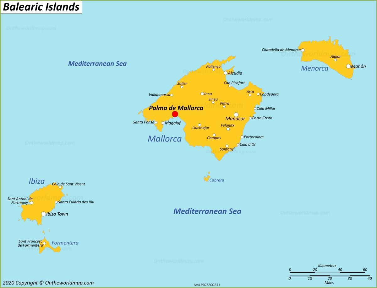 Balearic Islands Map Spain Maps Of Balearic Islands