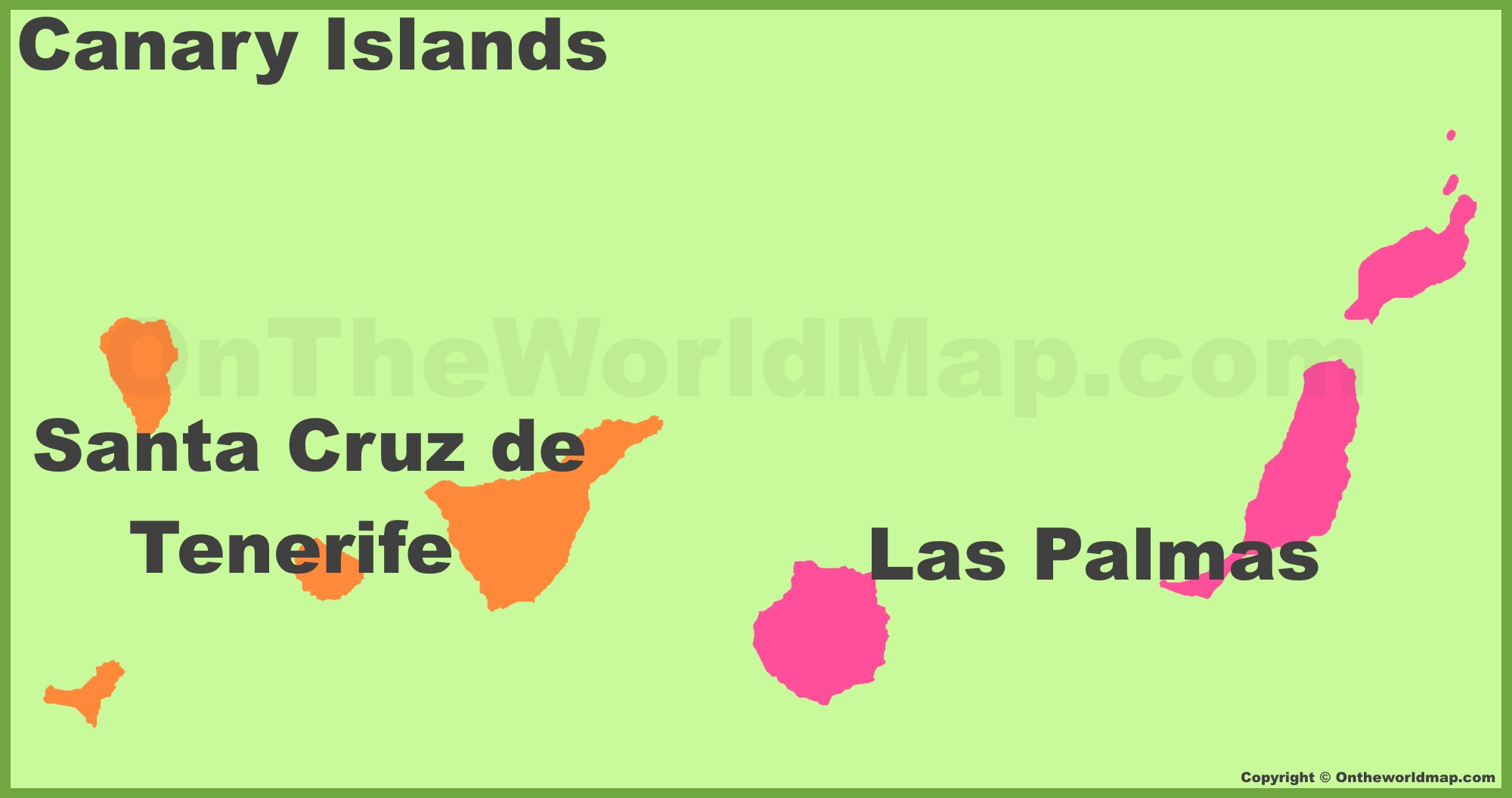 Canary Islands provinces map