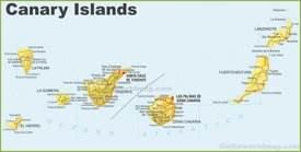 Mapa detallado de Canarias