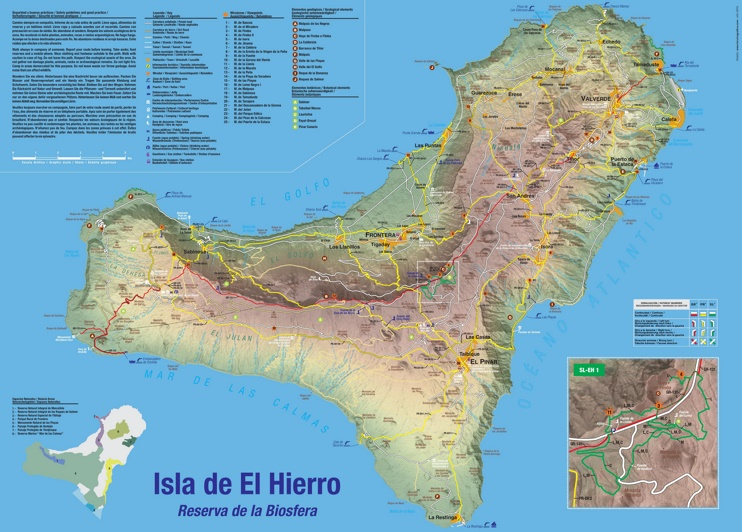 El Hierro tourist map