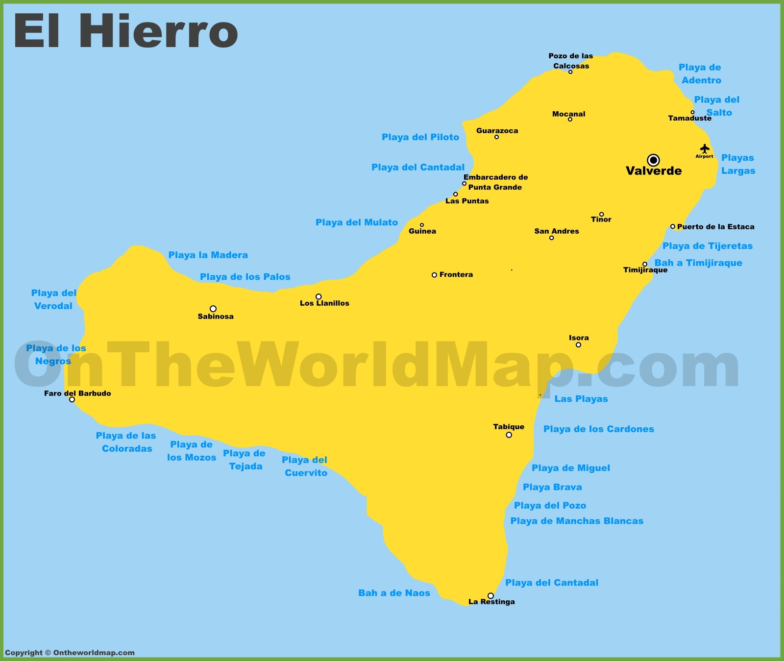 Location Of The Canary Islands Map
