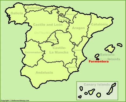 Formentera Location Map
