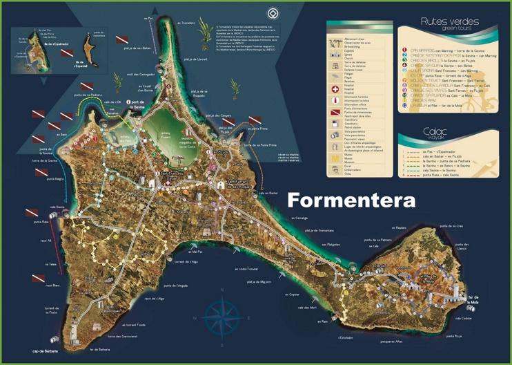 Formentera tourist map