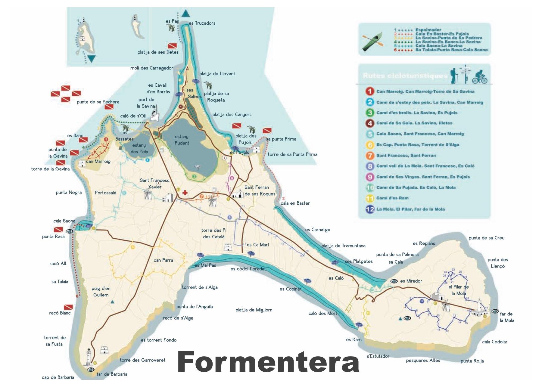 Formentera travel map