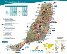 Fuerteventura tourist map