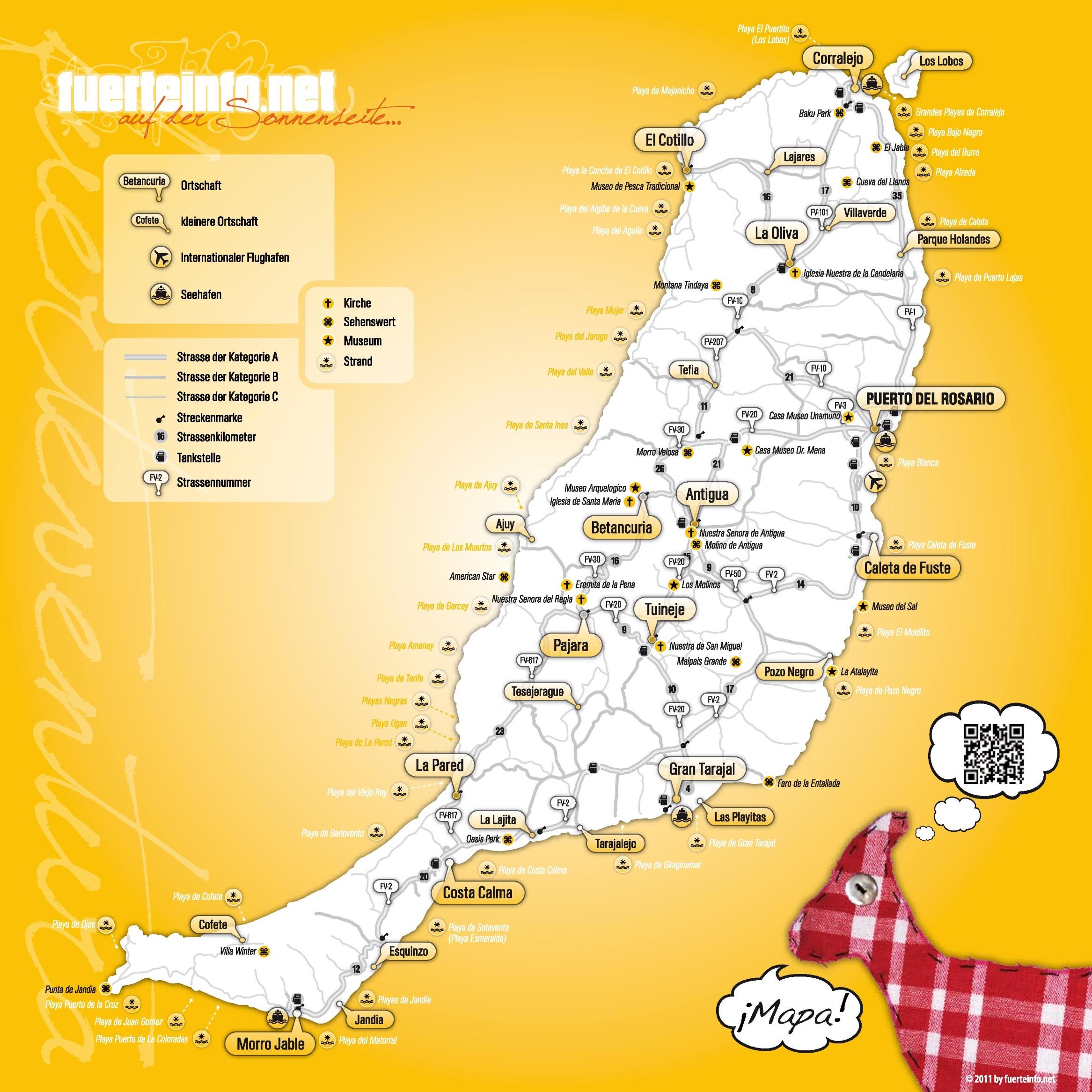 Fuerteventura travel map