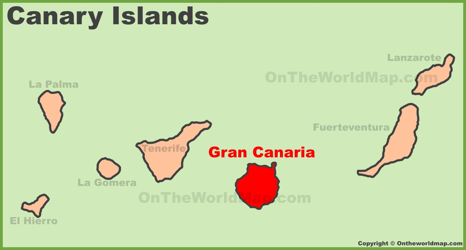Gran Canaria location on the Canaries map