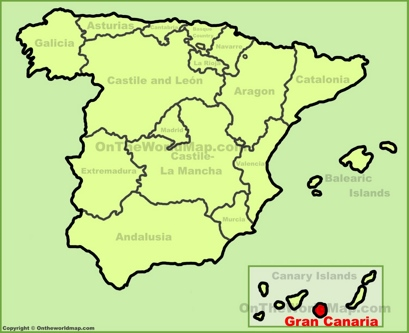 Gran Canaria Location Map