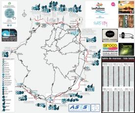 Gran Canaria surf map