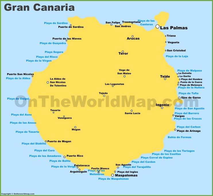 Map of Gran Canaria