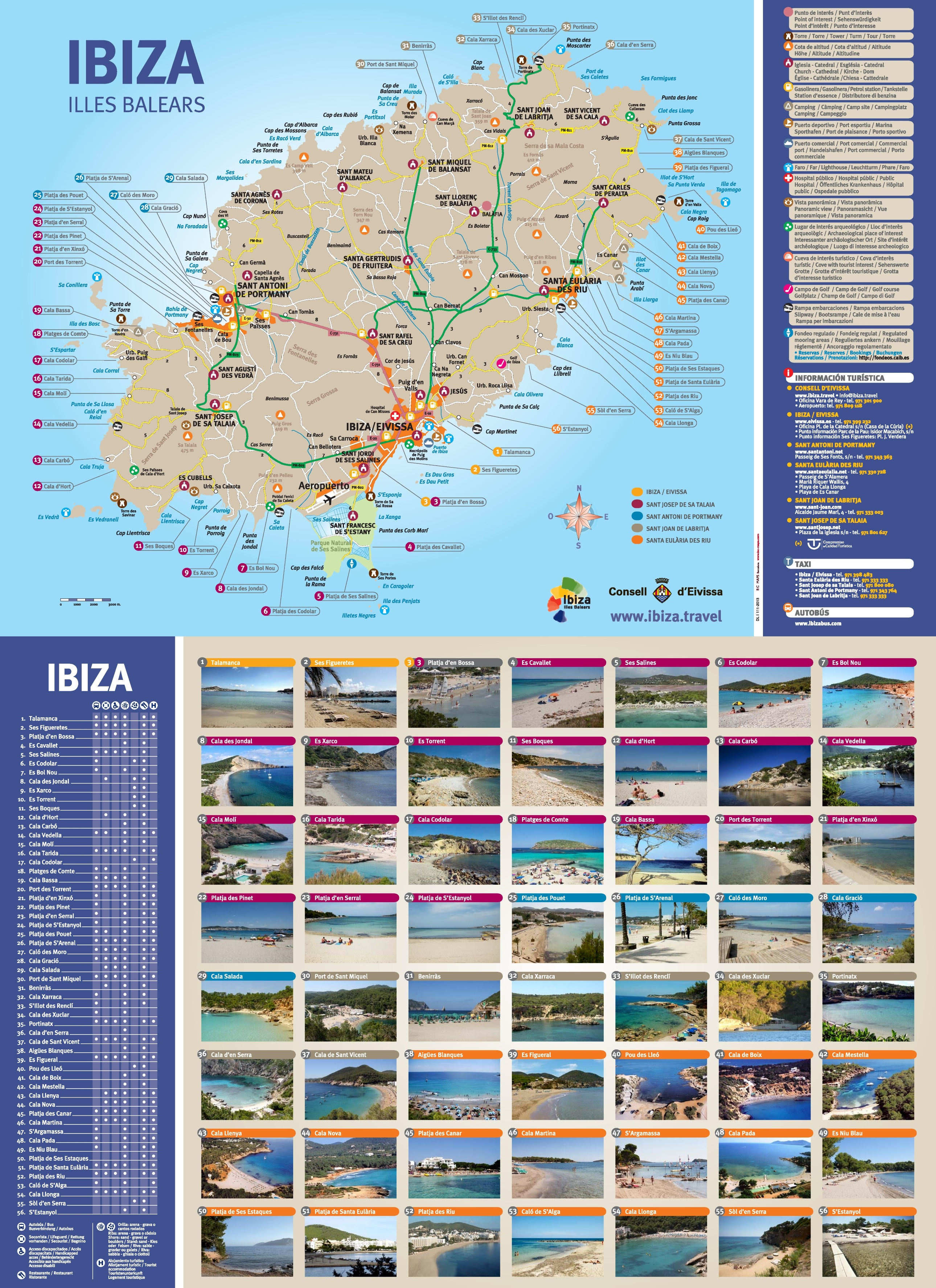 Ibiza beach map