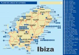 Ibiza bus map