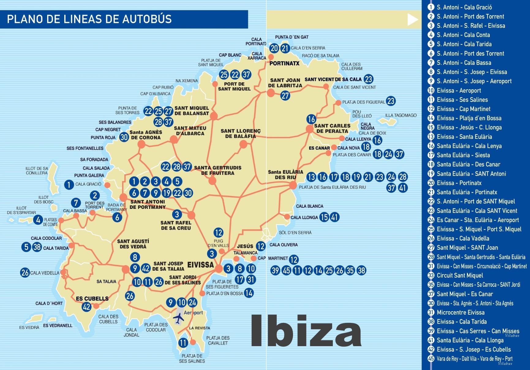Ibiza Maps Balearic Islands Spain Map of Ibiza