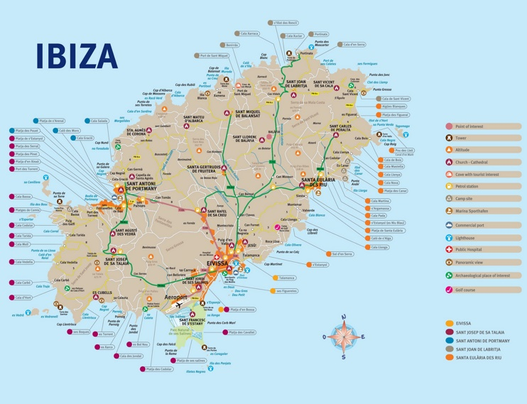 Ibiza Maps | Balearic Islands, Spain | Map of Ibiza
