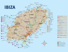 Ibiza tourist map