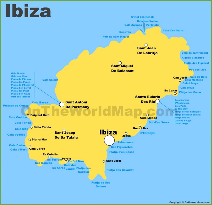 Cala Tarida Ibiza Mapa.Ibiza Maps Balearic Islands Spain Map Of Ibiza