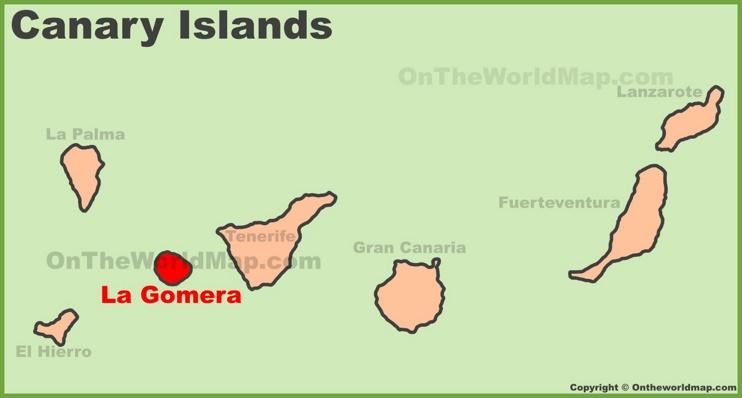 La Gomera en Canarias Mapa