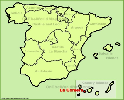 La Gomera Location Map