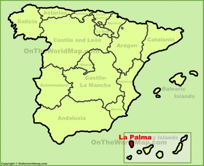 La Palma Location Map