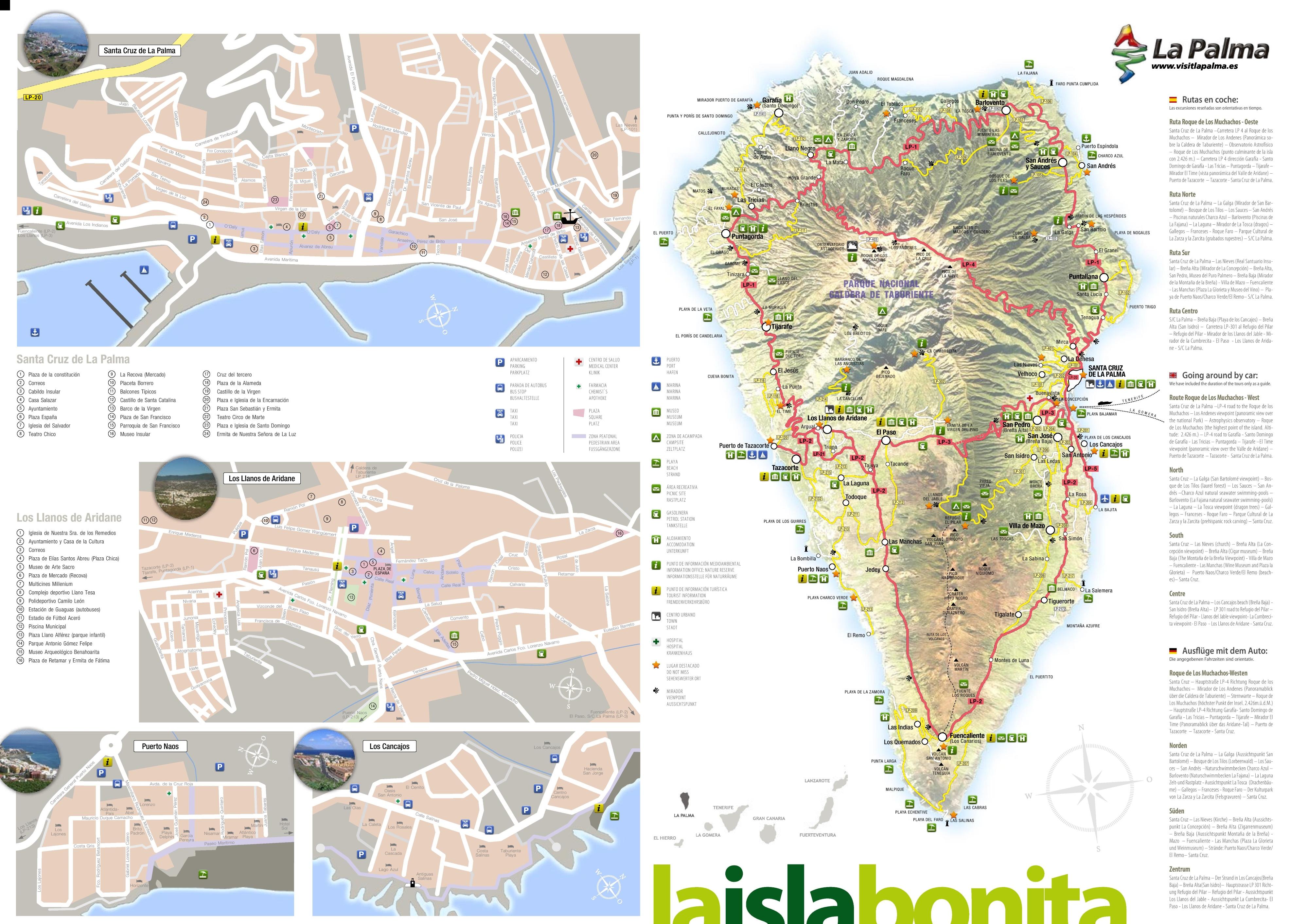 . la palma tourist map