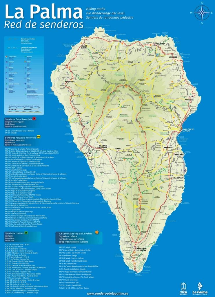 La Palma travel map