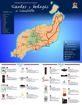 Lanzarote vine mapa
