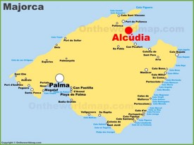 Alcúdia location on the Majorca map