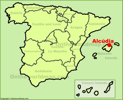 Alcúdia Location Map