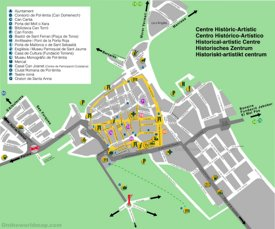 Alcúdia old town map
