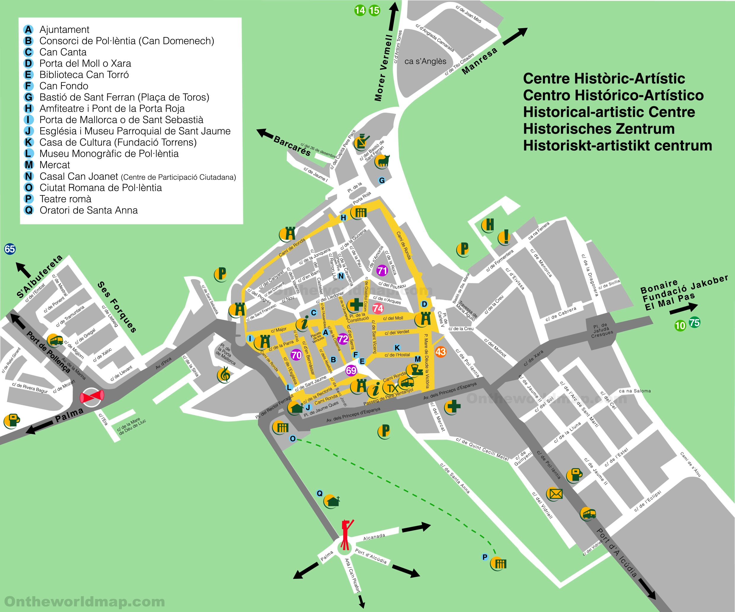 Alcdia old town map