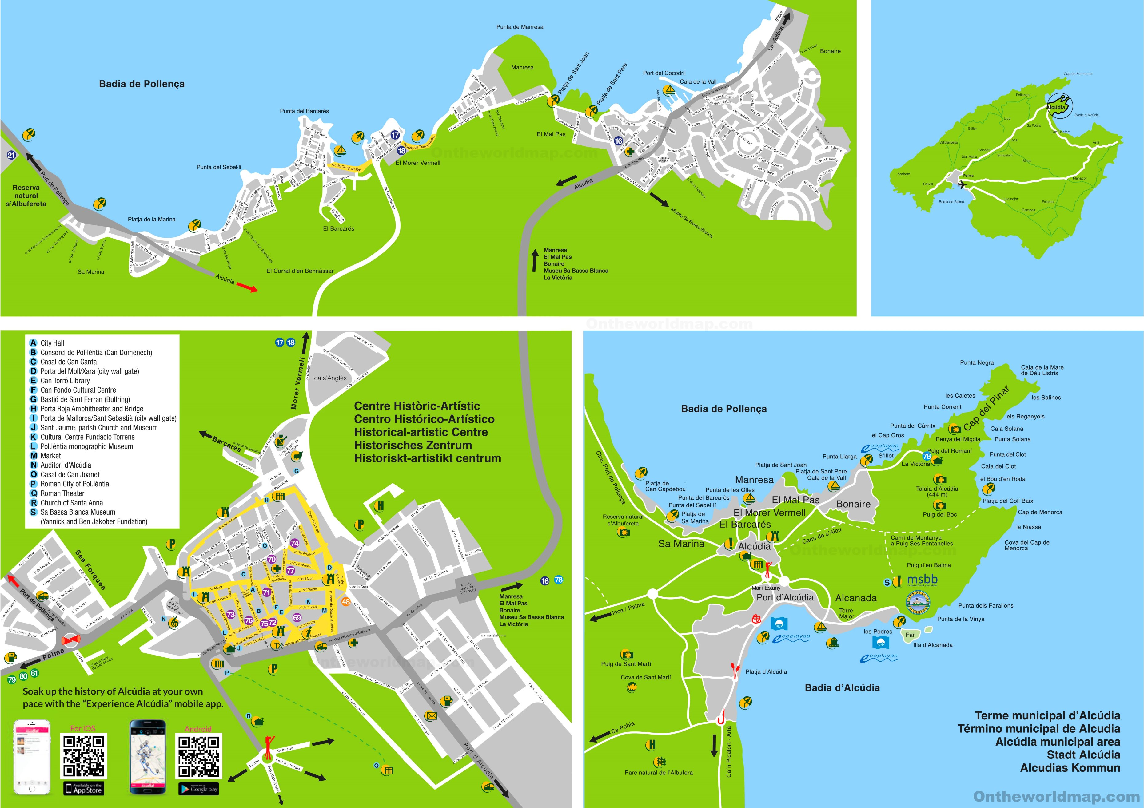 Alcdia tourist map