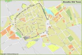 Mapa detallado de Alcúdia - Casco Antiguo