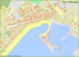 Mapa detallado de Port d'Alcúdia